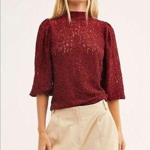Free people sweet talker lace blouse